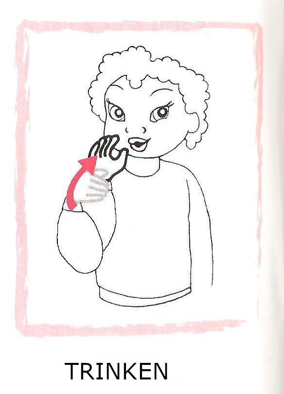 Gebärdesprache trinken