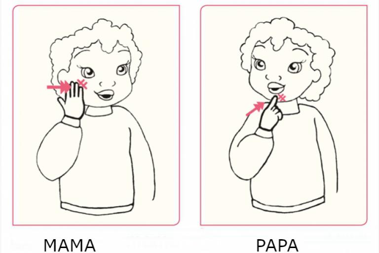 mama-en-papa Gebärdesprache